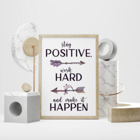 Stay Positive, Work Hard And Make It Happen Poster